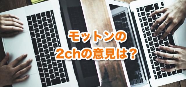 モットンの2chの意見を徹底解剖【辛辣すぎ・・?】